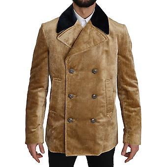 Dolce & Gabbana keltainen kaksirintainen trenchcoat takki