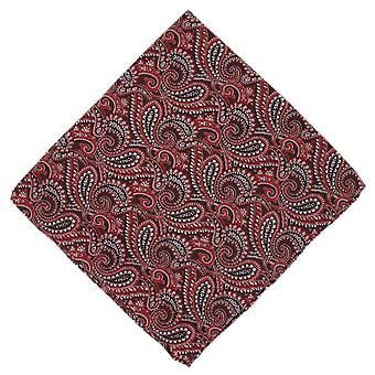 Michelsons of London All Over Paisley Silk Handkerchief - Burgundy