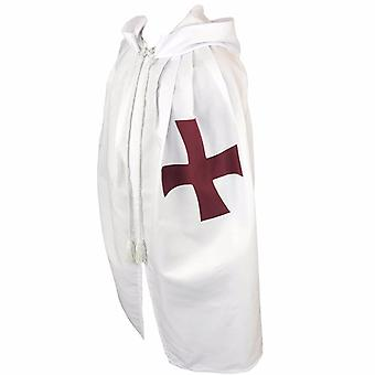 Masonic knight templar cloak mantle with red cross