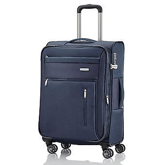 travelite Capri Trolley M, 4 Rollen, 66 cm, 67  L, Blau