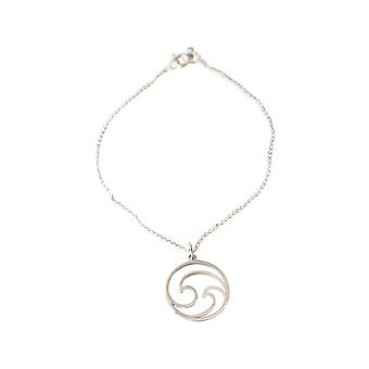 GEMSHINE Maritim bracelet WELLEN MEER 925 silver, gold plated or rose