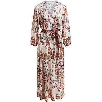 Oui Paisley Print Silky Maxi Dress