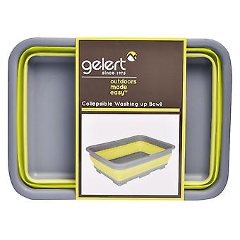 Gelert Unisex Collapsible Washing Up Bowl Bpa Free Easy Open & Piegare