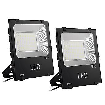 DELight ® 2 PCS 100W LED Flood Light Outdoor Security Lamp 450 Watt Equivalent