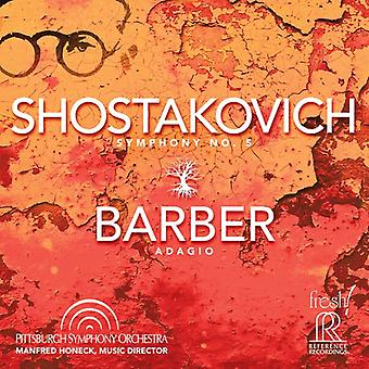 Barber / Pittsburgh Symphony Orch / Honeck - Symphony 5 / Adagio [SACD] USA import
