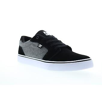 DC Anvil  Mens Black Suede Lace Up Skate Sneakers Shoes