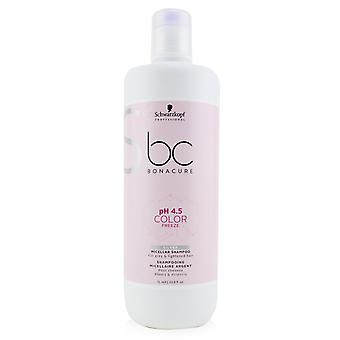 Bc bonacure p h 4.5 color freeze silver micellar shampoo (for grey & lightened hair) 232309 1000ml/33.8oz