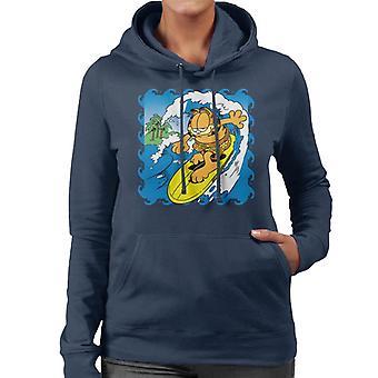 Garfield surfer opp kvinner ' s Hettegenser