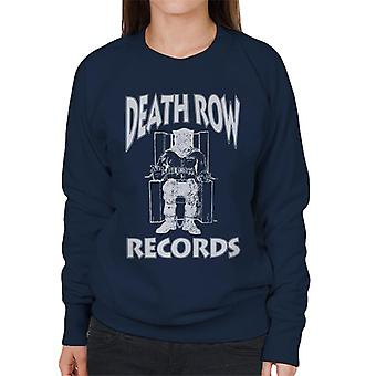 Death Row Records Chair Logo White Women's Sweatshirt