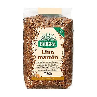 Organic Brown Linen 250 g