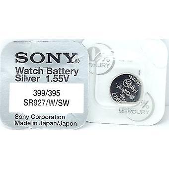 Sony 395/399 (sr927sw/sr927w) 1.55V Оксид серебра (0% hg) Меркурий бесплатно смотреть батареи - сделано в Японии