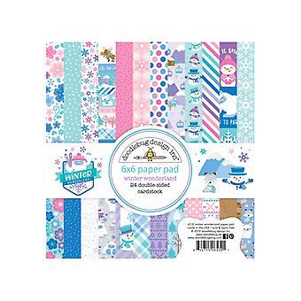 Doodlebug Design Winter Wonderland 6x6 Inch Paper Pad