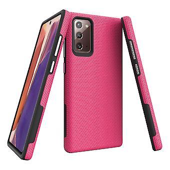 Para Samsung Galaxy Note 20 Armour Funda protectora resistente rosa