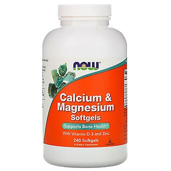 Now Foods, Calcium & Magnesium, with Vitamin D-3 and Zinc, 240 Softgels