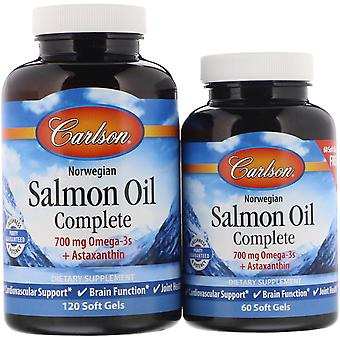 Carlson Labs, Norwegian, Salmon Oil Complete, 120 + 60 Free Soft Gels