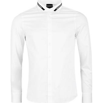 Armani Regular Fit Taped Collar Shirt