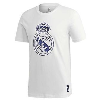 2020-2021 Real Madrid DNS Grafikus Póló (Fehér)