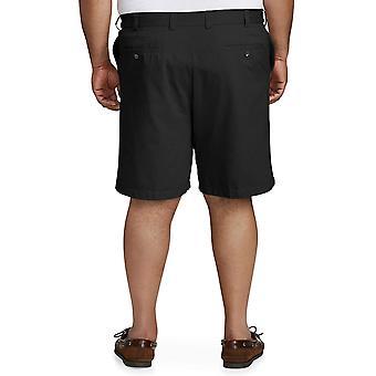Essentials Men's Big & Tall Flat-Front Short, Black 44