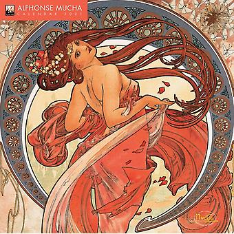 Alphonse Mucha Wall Calendar 2021 Art Calendar by Created by Flame Tree Studio