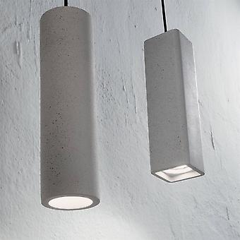 Ideale Lux Oak - 1 lichte plafondhanger lichtgrijs