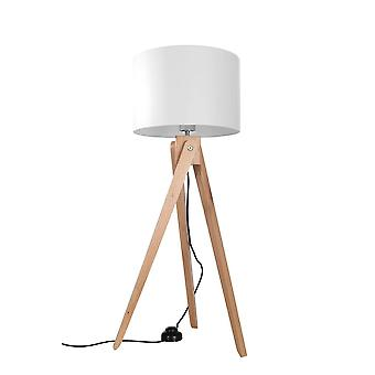 Sollux LEGNO - 1 Light Floor lamps Natural Wood, White