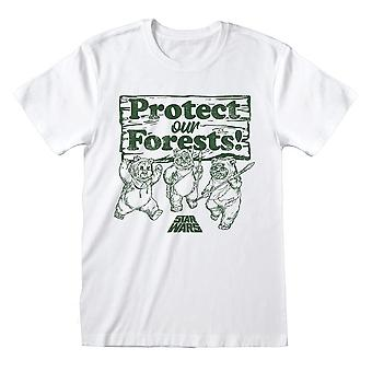 Men's Star Wars Ewoks Protect Our Forests! Wit T-shirt