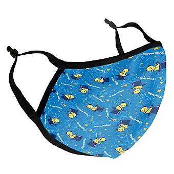 Sooty Magic Hat Blue Print Adult Reusable Fabric Face Mask