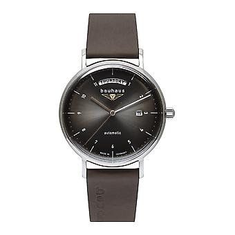 Bauhaus 2162-2 Black Dial Automatic With Day Date Wristwatch