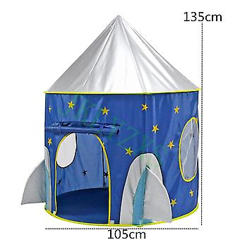 3 In 1 Tent Spaceship Game House, Rocket Ship Play Tent Ball Pool