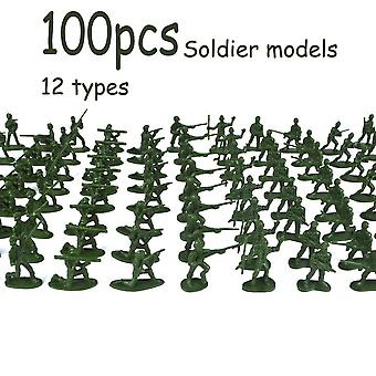 Mini Soldier Model Military Plastic Toy - Soldier Men Figures Playset Kit Gift Toy For Kids Boys
