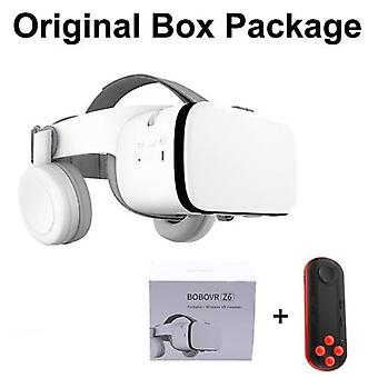 Z6 Oppgrader 3d-briller Vr-headset Google-papp Bluetooth Virtual-reality Briller-trådløs Vr Hjelm For Smartphones