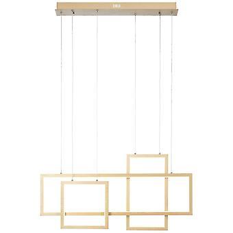 BRILLIANT Gwyn LED Pendelleuchte 80cm alu/gold Innenleuchten,Pendelleuchten,-Balken   1x 60W LED integriert, (Lichtstrom: