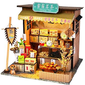 Diy Miniature House With Furniture - Led Model Building Blocks Toys