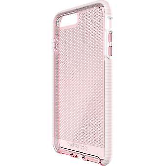 Tech21 Evo Check FlexShock Case for iPhone 8 Plus, iPhone 7 Plus - Light Rose/White