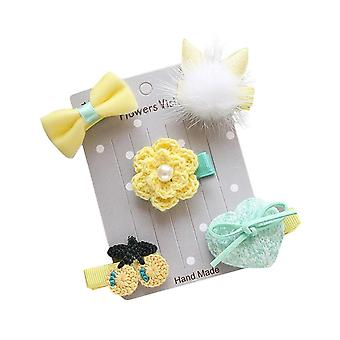 5pcs Kids Infant Hairpin,  Cartoon Animal Motifs Hair Clip Set