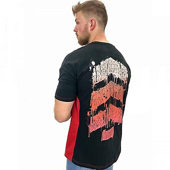 Rode Druppel Chevron Panel T-shirt