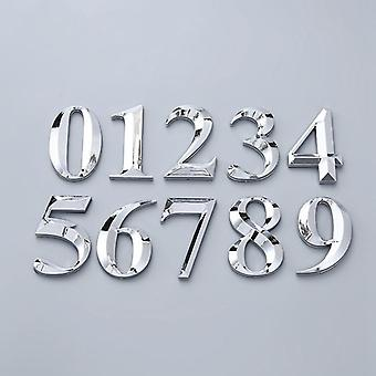 3d Self Adhesive Door Number Sign Digit Apartment Hotel Office Address Street