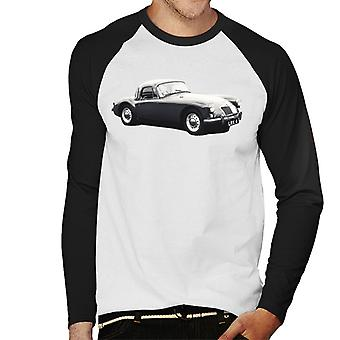 MG Side View British Motor Heritage Men's Baseball Long Sleeved T-Shirt