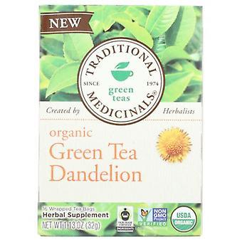 Traditional Medicinals Teas Organic Green Tea, Dandelion 16 Bag