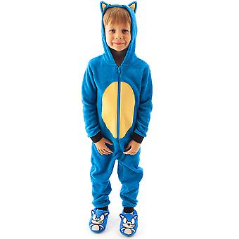Sonic The Hedgehog Onesie Pyjamas Cosplay Kids Boy's 3D Pjs
