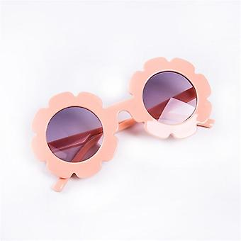 Baby Summer Sunglasses Flower Round Uv400 Protection Óculos de Sol ao ar livre