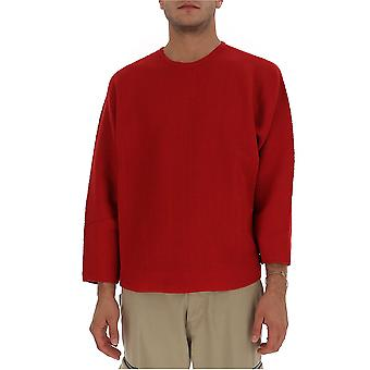 Homme Plissé By Issey Miyake Hp09kn00224 Men's Red Cotton Sweater