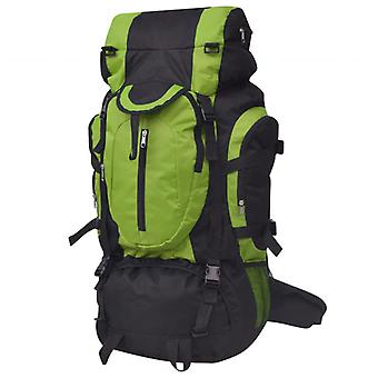 Hiking backpack XXL 75 L black and green