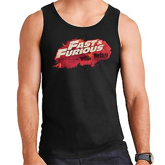 Fast and Furious Logo Character Backdrop Men's Vest
