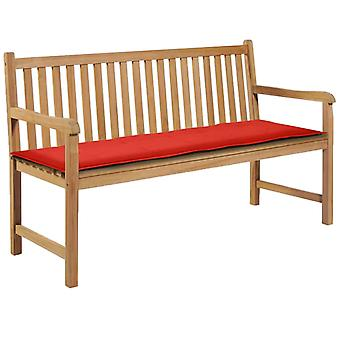 vidaXL tuinbank editie rood 150×50×3 cm