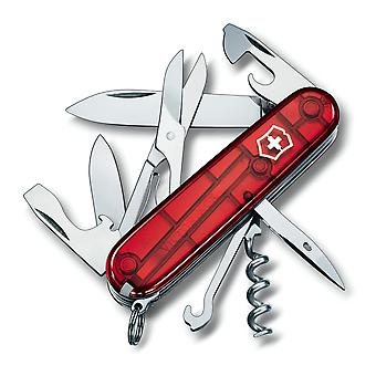 Victorinox Climber Swiss Army Penknife (Jelly Red) - jelly red