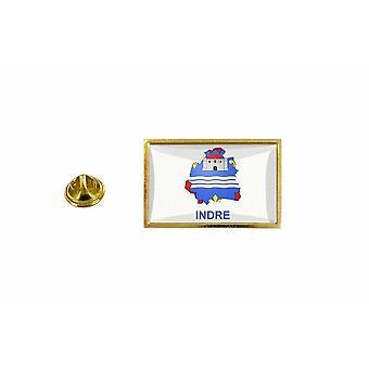 pinheiro emblema pinheiro pin-apos;s bandeira país mapa departamento indre