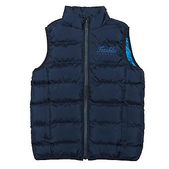 Boy's Franklin And Marshall Junior Fleece Lined Padded Gilet in Blue
