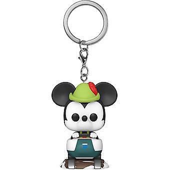 Disneyland 65th Mickey Matterhorn Pocket Pop! Keychain