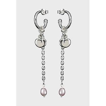 Kalevala Earrings Women's Twinflower Silver Pearl 2665400HET